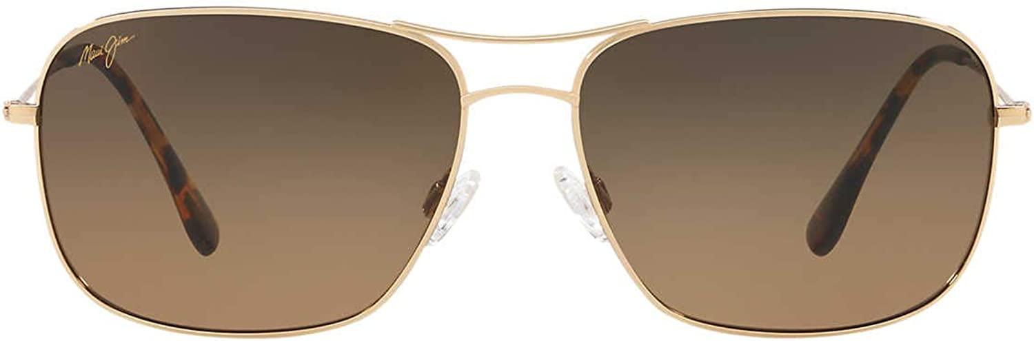Maui Jim® BREEZEWAY Men/'s TITANIUM Gold Aviator 773-16 POLARIZED HCL® Bronze
