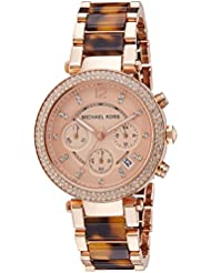 Michael Kors Women's Parker Rose Gold & Tortoise Watch MK5538