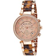 Michael Kors Women's Parker Rose Gold & Tortoise Watch MK5538