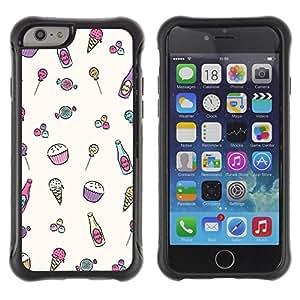 Suave TPU GEL Carcasa Funda Silicona Blando Estuche Caso de protección (para) Apple Iphone 6 PLUS 5.5 / CECELL Phone case / / Sweet Sweets Drawing Candy /