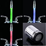 {Factory Direct Sale} NEW Water Glow 3 Colors Changing LED Light Kitchen Bathroom Faucet Temperature Control Sensor Tap TE shower head