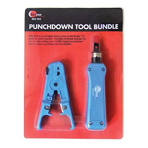 Eclipse Punch Down Tool - Eclipse Tools 902-353 110 Punch Down Tool Bundle