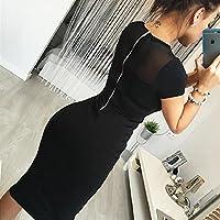 fanmuran Cultivar una moral de la moda falda cierre trasera lápiz fiesta noche mini vestido S