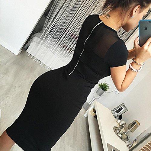 FANMURAN Cultivate One's Morality Fashion Skirt Back Zipper Pencil Party Evening Mini Dress XL ()