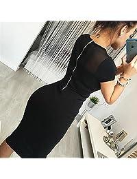FANMURAN Cultivar la moralidad de uno partido de tarde de moda falda lapiz mini vestido de cremallera de la espalda Talla M