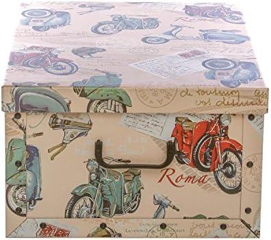 Caja de almacenaje de cartón decorado, de 50 x 45 x 25 cm: Amazon ...
