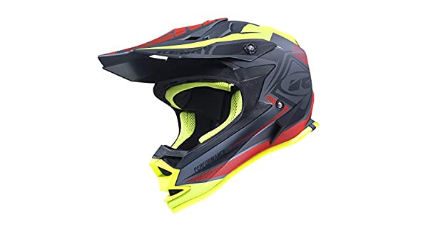 Casco Kenny Performance Negro Mate Rojo Amarillo 2017: Amazon.es: Deportes y aire libre