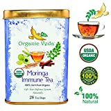 Organic Moringa Immune Specialty Tea (28 Potent Tea Bags). USDA Certified Organic. Rich in Antioxidants and Daily Needed Essential Nutrients. No Artificial Flavors or Preservatives. Real Moringa Tea