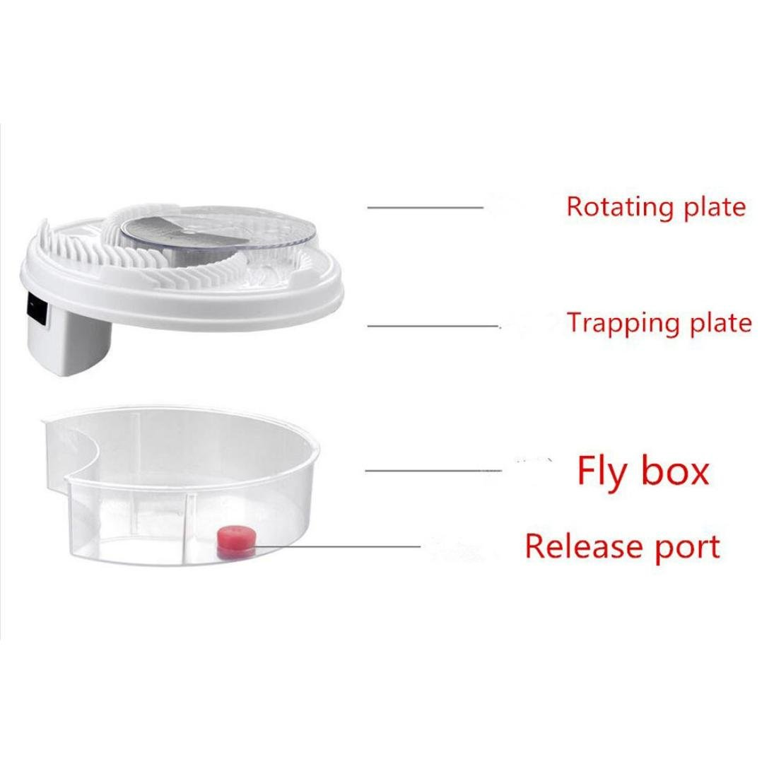 Hechun Electric Fly Trap Device with Trapping Food Mosquito Killer Pest Control Pest Catcher (White) by Hechun (Image #4)