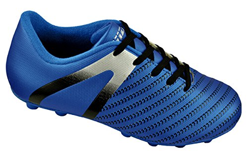 Image of Vizari Unisex Impact FG Soccer Shoe, Blue/Silver, 10.5 Regular US Little Kid