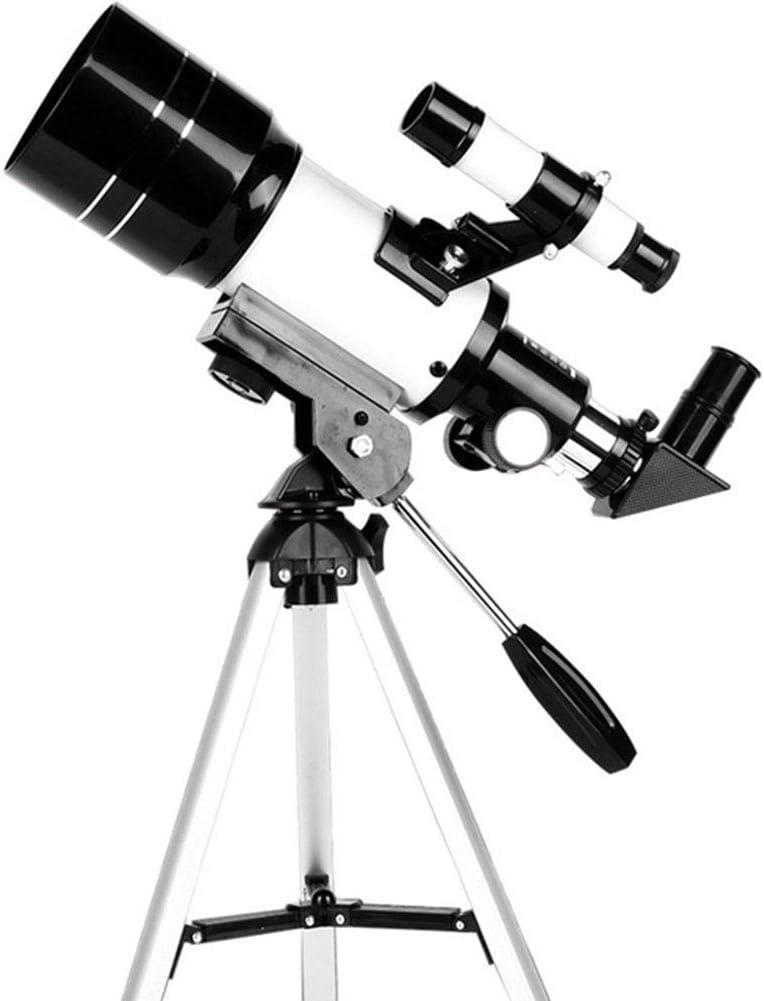 AJH Telescopio Refractor astronómico de 70 mm Telescopio monocular con trípode y Soporte para teléfono, telescopio de Viaje portátil para niños, Adultos, Principiantes