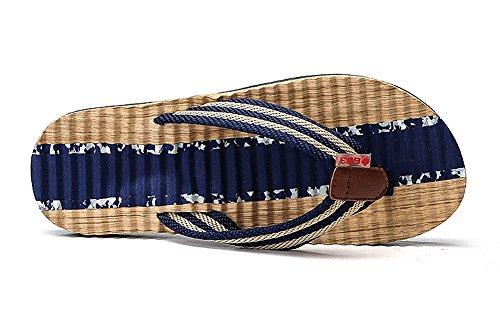Clásico Interiores Casual y Casual Sandalias Azul Piscina para Chanclas Flip Playa de Hombre Aitaobao Flop Exteriores nS7AXqfw