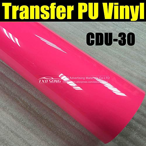 NEON Pink CDU-30 Garment PU Transfer Heat Film for Cutter Plotter Using with Size:50100cm(1yard)/lot by