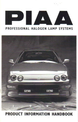 PIAA Professional Halogen Lamp Systems, Product Information Handbook Guide Catalog (1996)