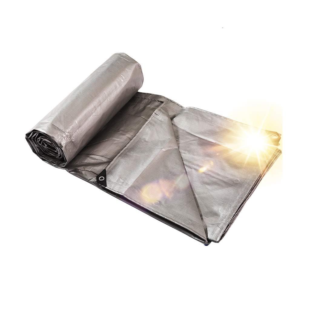 Telo imbottito grigio PE Biadesivo impermeabile e resistente al freddo Parasole antipioggia resistente all'usura per esterni (grigio, dimensioni, 3  3 m, 220 g   m2) (dimensioni   4  4m)