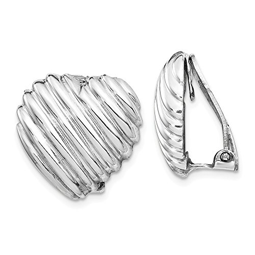 925 Sterling Silver Heart Clip Back Non Pierced On Earrings Ball Button Love Fine Jewelry Gifts For Women For ()