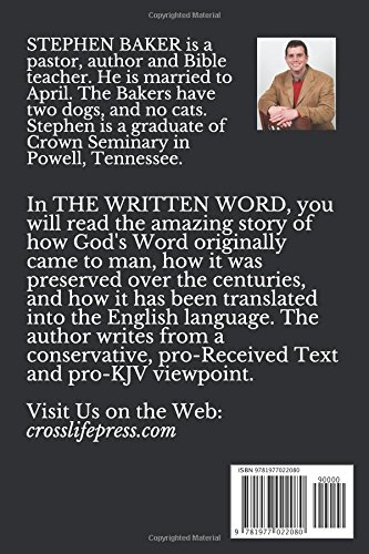 amazon the written word how we got our bible from genesis to