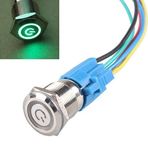 Led 24v 16 Mm (HiLetgo Latching Pushbutton Switch 16mm 5/8