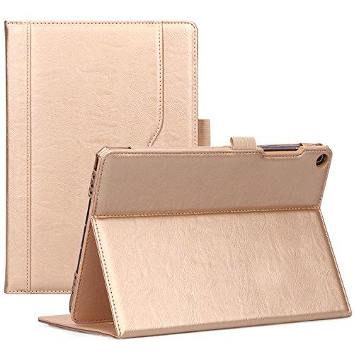 ProCase ASUS ZenPad 3S 10 9.7 Inch Case Z500M - Stand Cover Folio Case for ASUS ZenPad 3S 10 Tablet - Gold