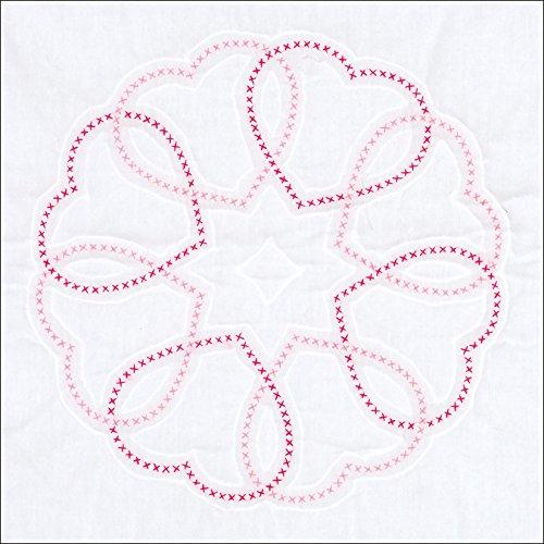 Jack Dempsey Needle Art 732766 Circle of Hearts Quilt Blocks, White