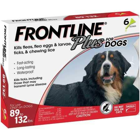 Frontline Plus for Dogs Extra Large Dog (89 to 132 pounds) Flea and Tick Treatment, 6 Doses (Frontline Plus Flea)