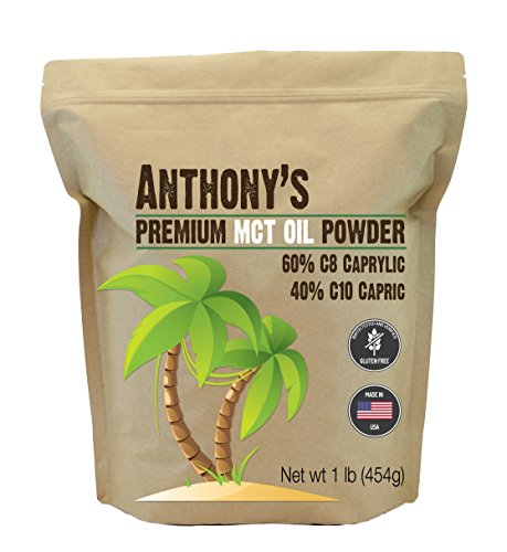 Anthonys Premium MCT Oil Powder - 60% C8 Caprylic, 40% C10 Capric (1lb)