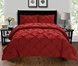 Difference Between a King and a California King Bed Celine Linen  Luxury Super-Soft Coziest 1500 Thread Count Egyptian Quality 3-Piece Pintuck Design Duvet Cover Set, (Insert Comforter Protector) Wrinkle-Free, King/California King, Burgundy