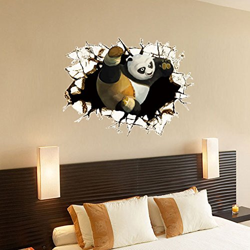 Fangeplus Tm Diy Removable 3d Kung Fu Panda Art Mural