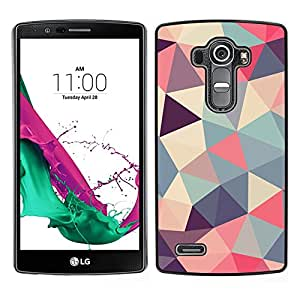[Neutron-Star] Snap-on Series Teléfono Carcasa Funda Case Caso para LG G4 [Polygon Triangle Pattern Poly Art Pattern]
