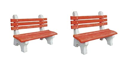 Prime Green Bricks And Tiles Outdoor Cemented Bench Pack Of 2 Uwap Interior Chair Design Uwaporg