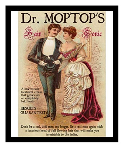 Iron Ons 8 x 10 Photo Hair Restorer Baldness Cure Dr. Mop top Vintage Old Advertising Campaign Ads