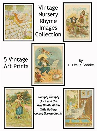 (Set of 5 Nursery Vintage Rhyme Wall Art Humpty Dumpty
