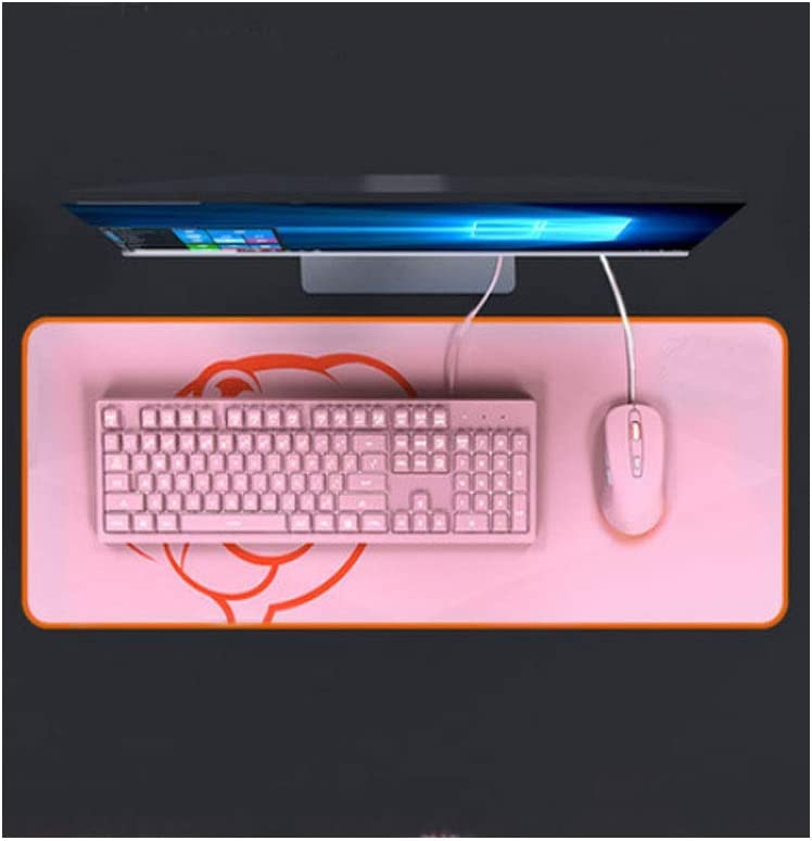 Fashion Real Mechanical Style Computer Keyboard Wired Home Office Esports General Style Color : Pink Orange, Mouse Pad + Mouse Backlight Jingfeng Keyboard
