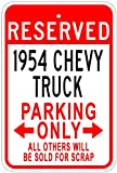 54 chevy truck model - 1954 54 CHEVY TRUCK Aluminum Parking Sign - 10 x 14 Inches