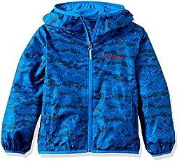 Columbia Big Boys\' Pixel Grabber II Wind Jacket, Super Blue Camo, X-Small