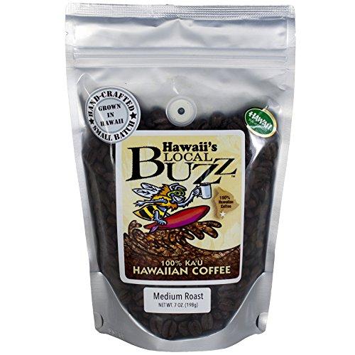 Hawaii's Local Buzz Whole Bean Coffee, Medium Roast, 7 - Red Amazon Kona