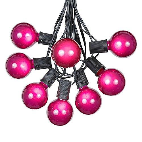 Patio String Lights Purple Globe