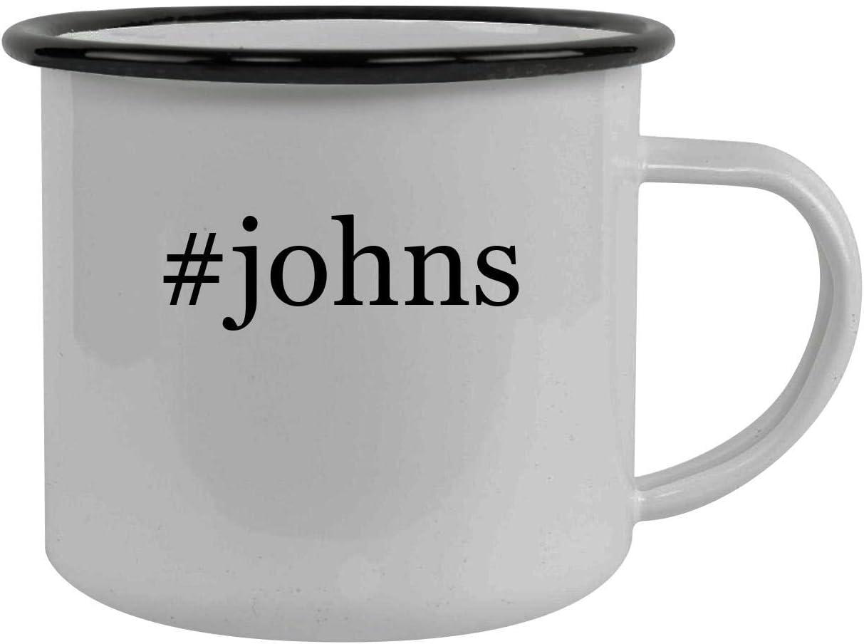 #johns - Stainless Steel Hashtag 12oz Camping Mug, Black