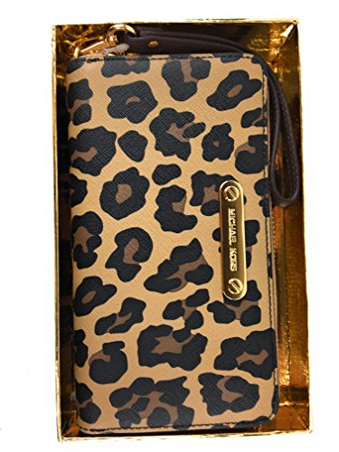 Michael Kors Jet Set multi Function Wallet Cheetah by Michael Kors