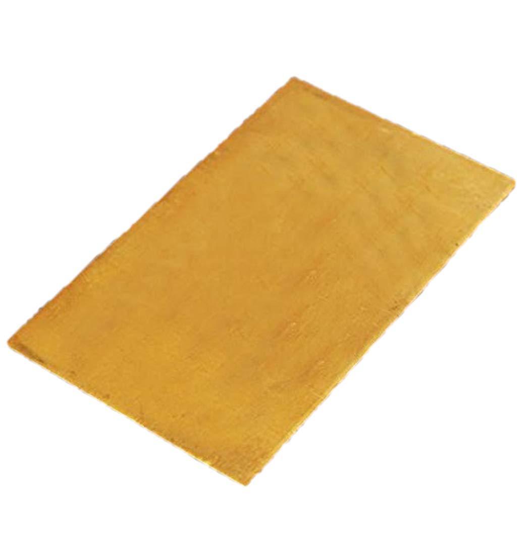MASUNN 3mmx60mmx100mm Brass Sheet Plate Industry DIY Experiment Sheet