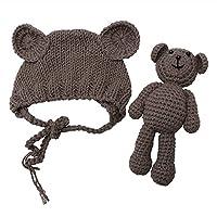 Tangc Newborn Baby Girl Boy Photography Prop Photo Crochet Knit Costume Bear ...