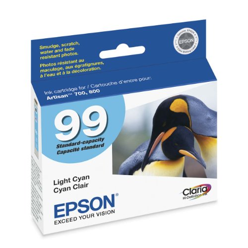Epson Claria Hi-Definition 99 Standard-capacity Inkjet Cartridge Light Cyan T099520