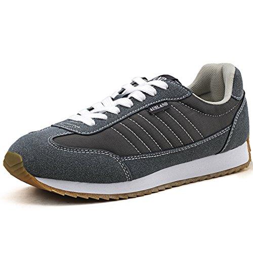 Cheap Shenda Unisex Lightweight Lace-up Sneakers 7555, Grey, Women 5.5US, EU 36, 23CM Foot Length