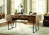 Coaster 800999 Home Furnishings Desk, Antique Nutmeg/Black