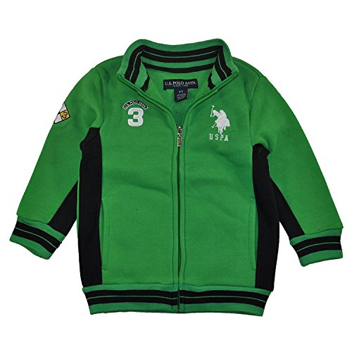 U.S. Polo Assn. Little Boy's Fleece Mock Neck Jacket with St