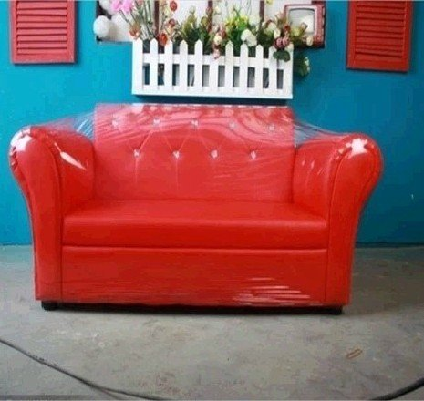 New photography photo props baby red sofa Couch settee SF06 by Backdropshop