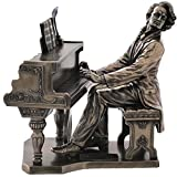 8.75 Inch Frederic Chopin Cold Cast Bronze Sculpture Figurine
