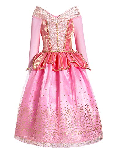 ReliBeauty Girls Princess Dress up Aurora Costume, 5, Pink for $<!--$22.99-->