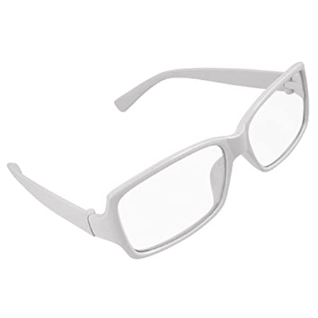 1448c40773b Plastic White Frame Arms Rimmed Clear Lens Unisex Glasses  Amazon.co.uk  DIY    Tools