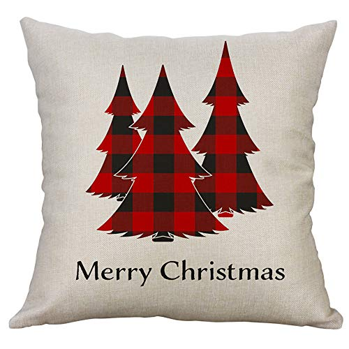 Case❤️1pcs Fashion Christmas Sofa Bed Home Decor Pillow Case Cushion Home Cover 40cmx40cm (A) ()